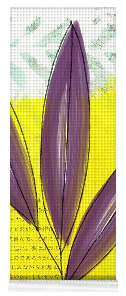 Bamboo Yoga Mat featuring the painting Bamboo by Linda Woods