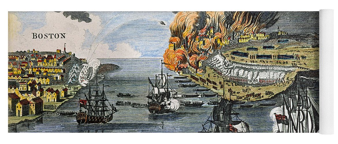 1775 Yoga Mat featuring the photograph Battle Of Bunker Hill, 1775 by Granger