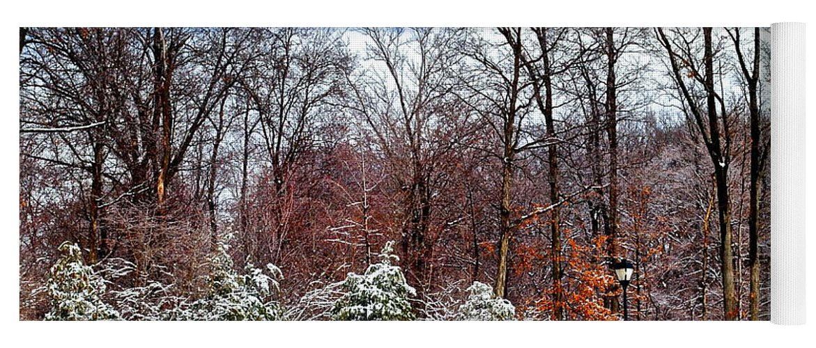 Snow Yoga Mat featuring the photograph Beautiful Scenery by Frozen in Time Fine Art Photography