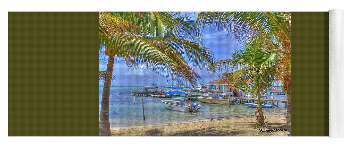 Belize Yoga Mat featuring the photograph Belize Hdr by Debby Richards
