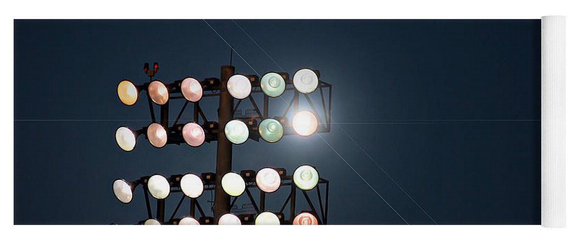 Lights Yoga Mat featuring the photograph Beneath Friday Night Lights by Trish Mistric