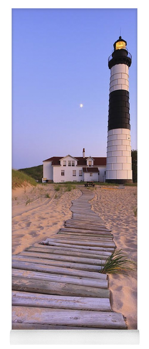 3scape Photos Yoga Mat featuring the photograph Big Sable Point Lighthouse by Adam Romanowicz