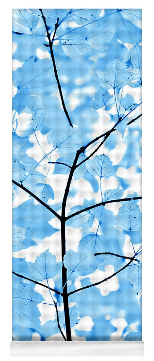 Leaf Yoga Mat featuring the photograph Blue Leaves Melody by Jennie Marie Schell