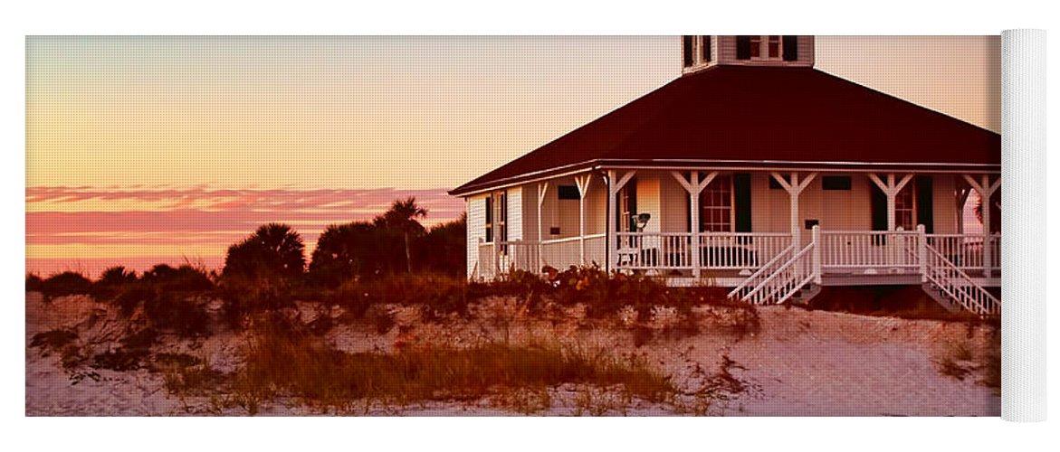 Boca Grande Yoga Mat featuring the photograph Boca Grande Lighthouse - Florida by Nikolyn McDonald