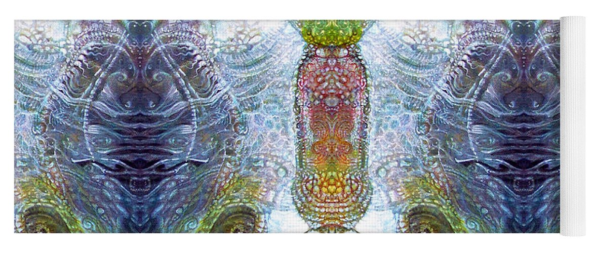 \bogomil Variations\ \otto Rapp\ \ Michael F Wolik\ Yoga Mat featuring the digital art Bogomil Variation 13 by Otto Rapp