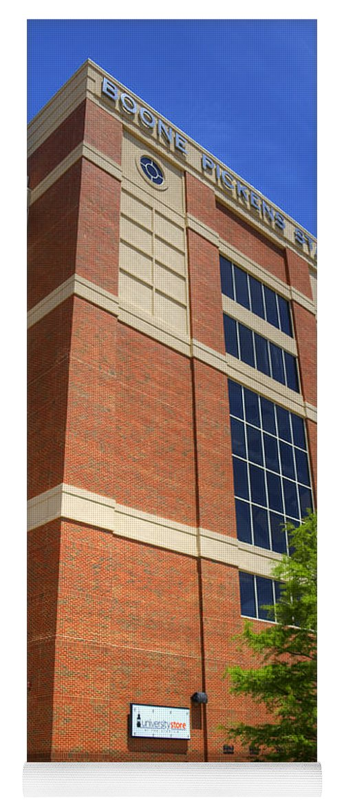 Boone Yoga Mat featuring the photograph Boone Pickens Stadium by Ricky Barnard