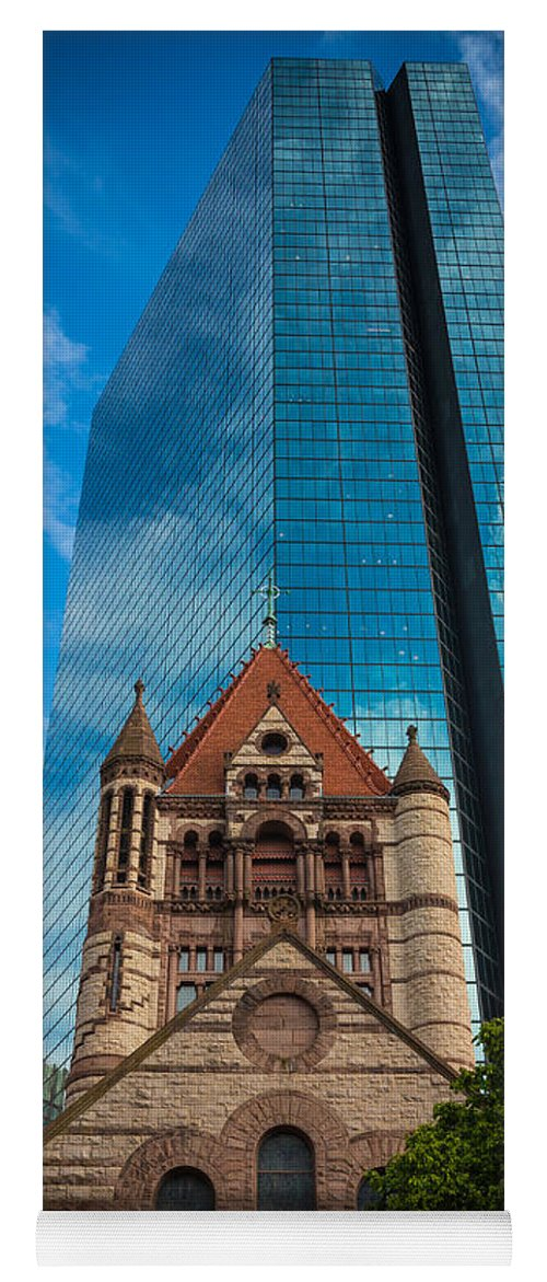America Yoga Mat featuring the photograph Boston Trinity Church by Inge Johnsson