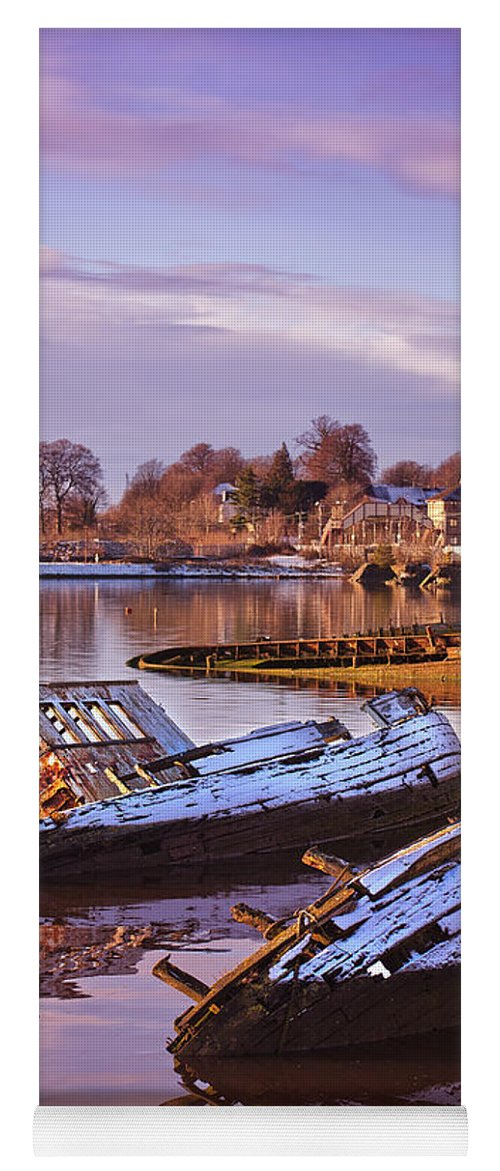 Bowling Yoga Mat featuring the photograph Bowling Harbour 03 by Antony McAulay