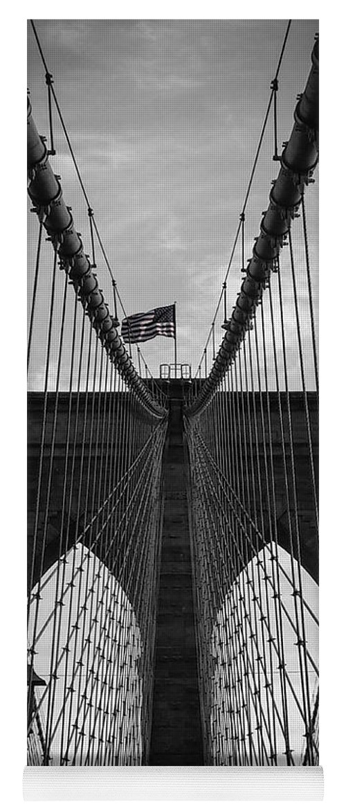 New York Yoga Mat featuring the photograph Brooklyn Bridge by Nicklas Gustafsson