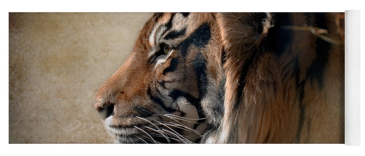 Tiger Yoga Mat featuring the photograph Burning Bright by Betty LaRue