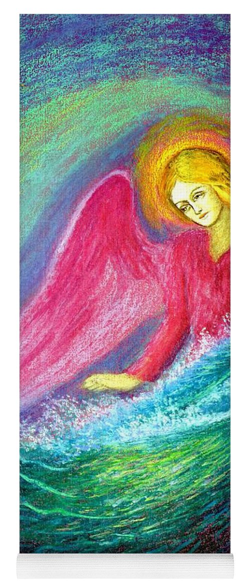 Love Yoga Mat featuring the painting Calming Angel by Jane Small