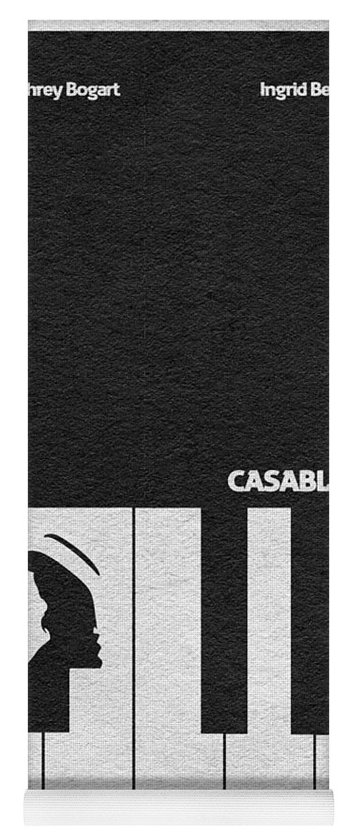 Casablanca Yoga Mat featuring the digital art Casablanca by Inspirowl Design