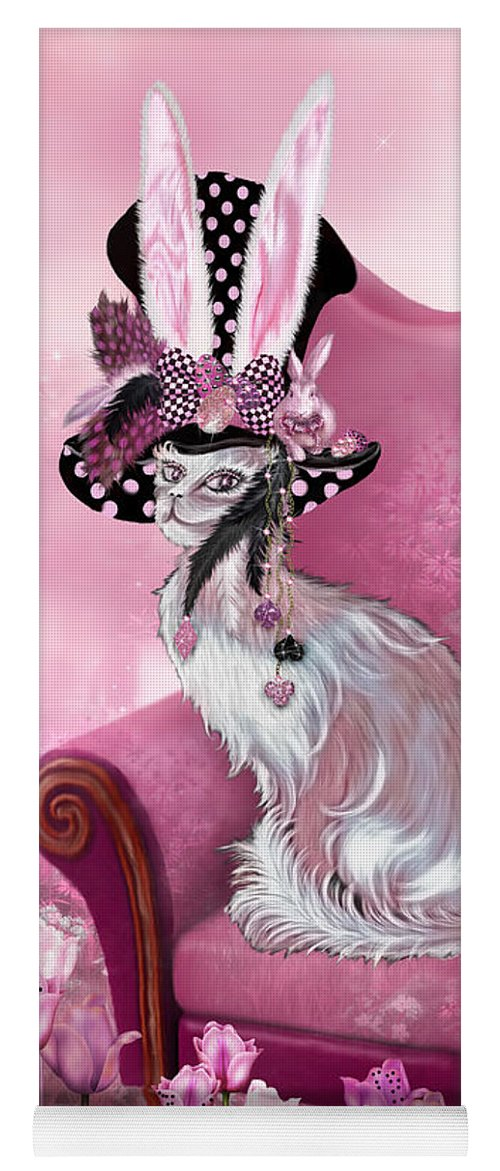 Cat In Mad Hatter Hat Yoga Mat For Sale By Carol Cavalaris