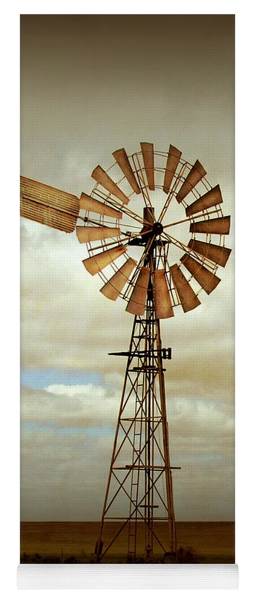 Windmill Yoga Mat featuring the photograph Catch the Wind by Holly Kempe