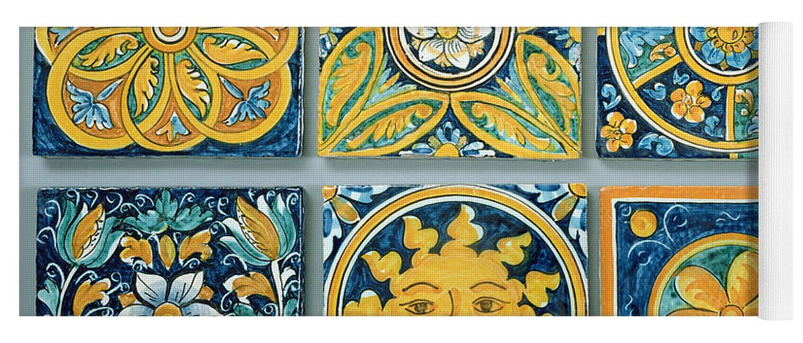 Ceramic Tiles In The Typical Caltagirone Style Ceramic Yoga Mat For