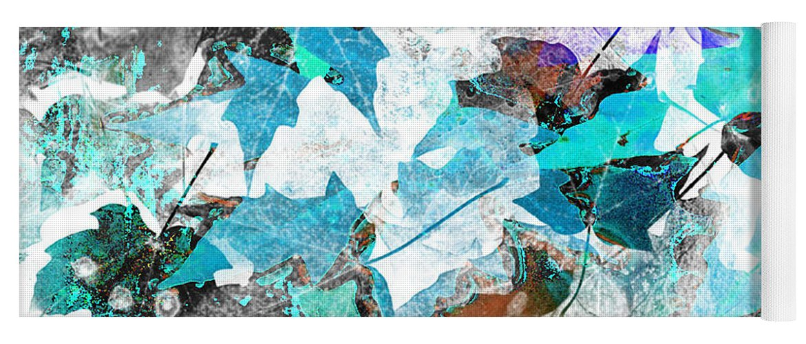 Digital Art Abstract Yoga Mat featuring the digital art Change Is On The Way by Yael VanGruber
