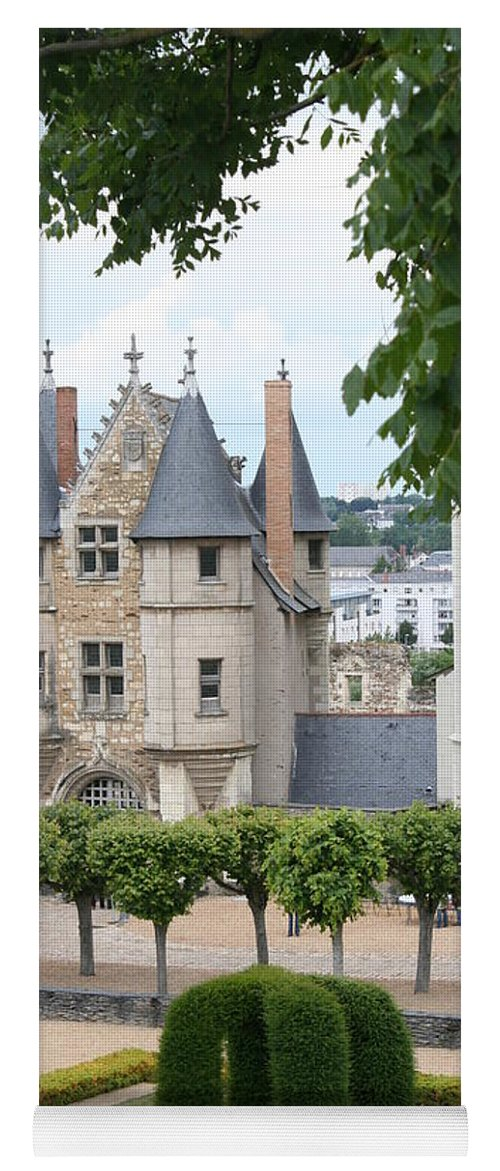 Castle Yoga Mat featuring the photograph Chateau D'angers - Chatelet View by Christiane Schulze Art And Photography