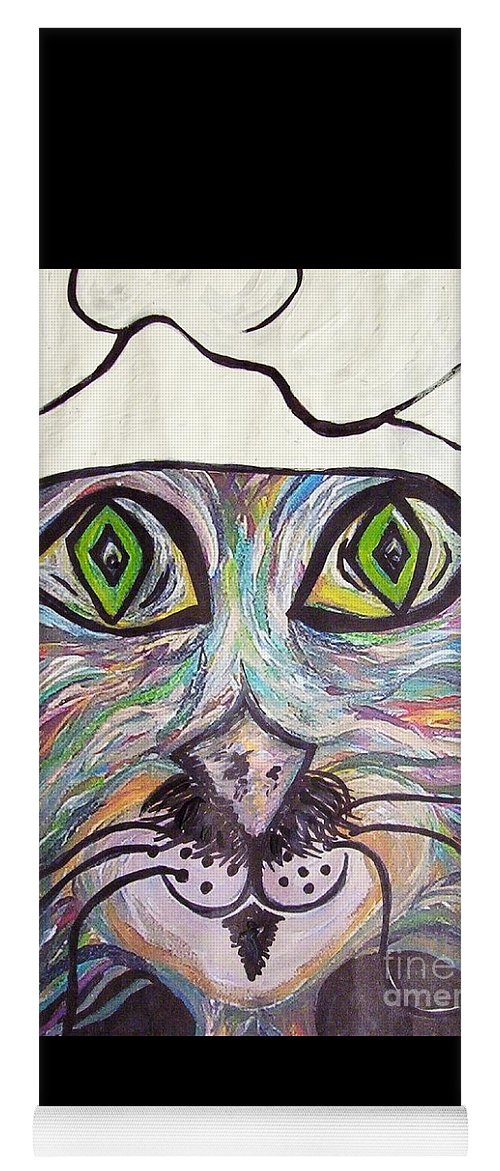 Professional Yoga Mat featuring the painting Chef Pierre ... A Cat With Good Taste by Eloise Schneider Mote