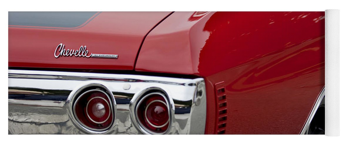 Chevrolet Chevelle Ss Taillight Emblem 3 Yoga Mat