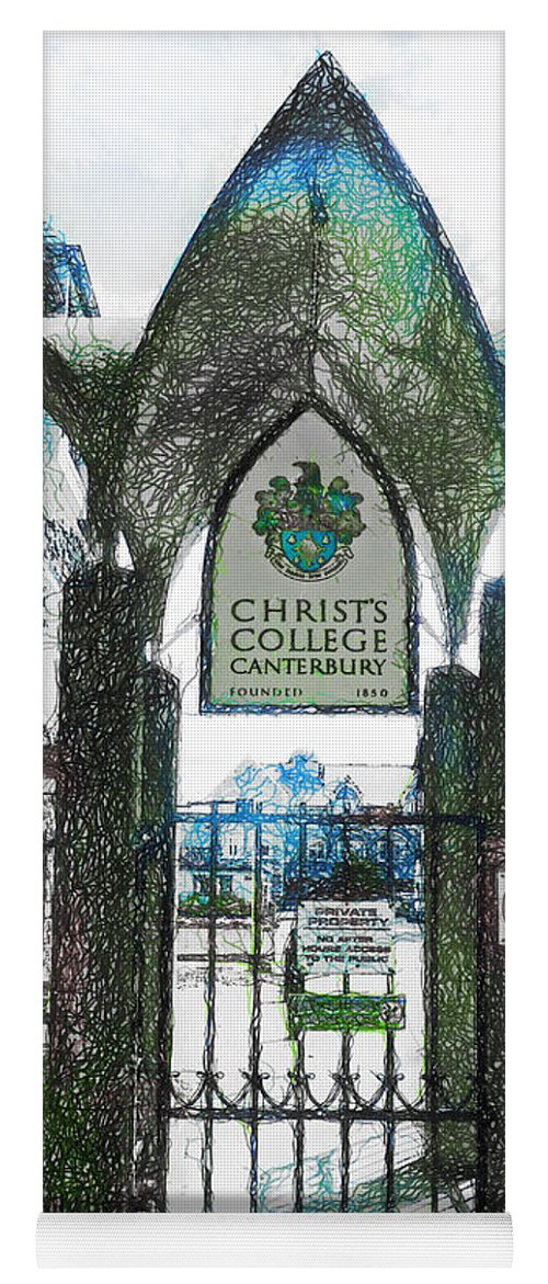 Christ's Yoga Mat featuring the photograph Christ's College Canterbury by Steve Taylor