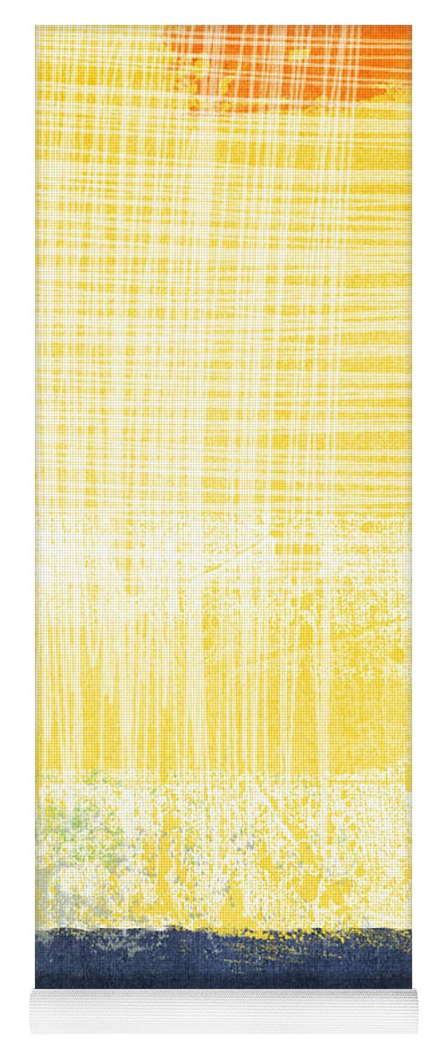 Abstract Painting Yoga Mat featuring the painting Circadian by Linda Woods