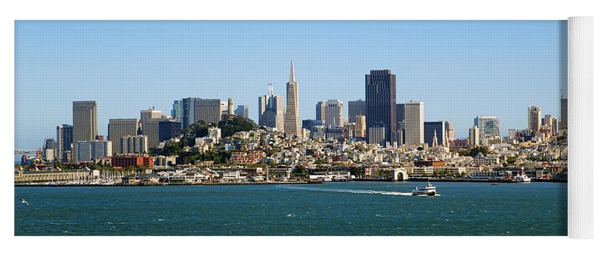 San Francisco Yoga Mat featuring the photograph City By The Bay by Kelley King