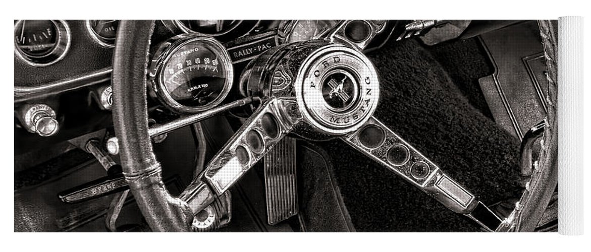 Ford Yoga Mat featuring the photograph Classic Mustang by Olivier Le Queinec