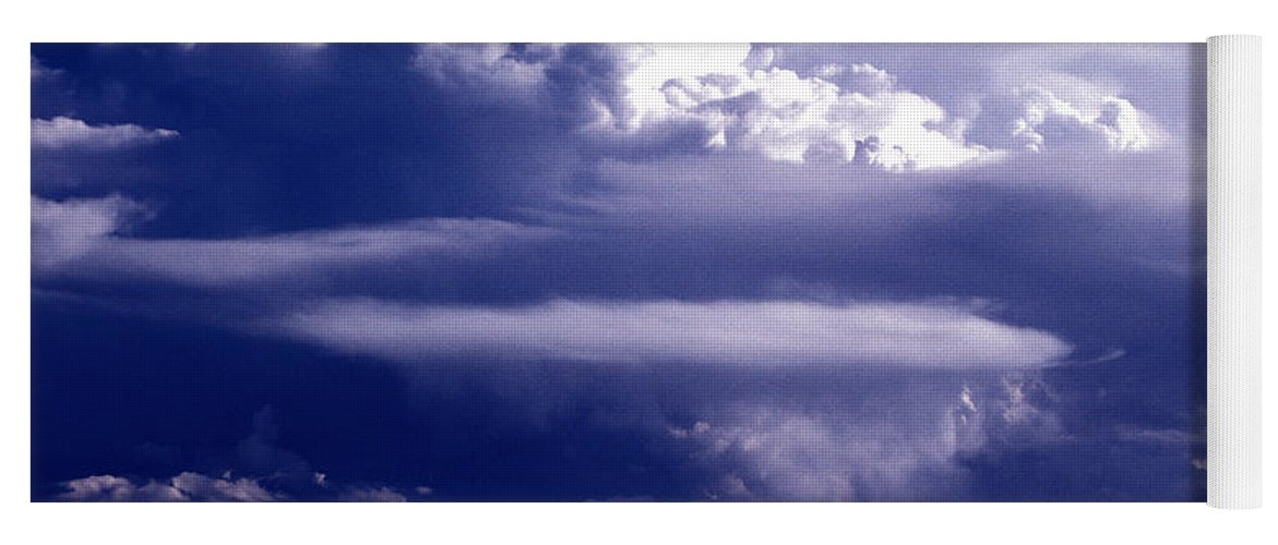 Horizontal Yoga Mat featuring the photograph Cloud Study - 56 by Paul W Faust - Impressions of Light