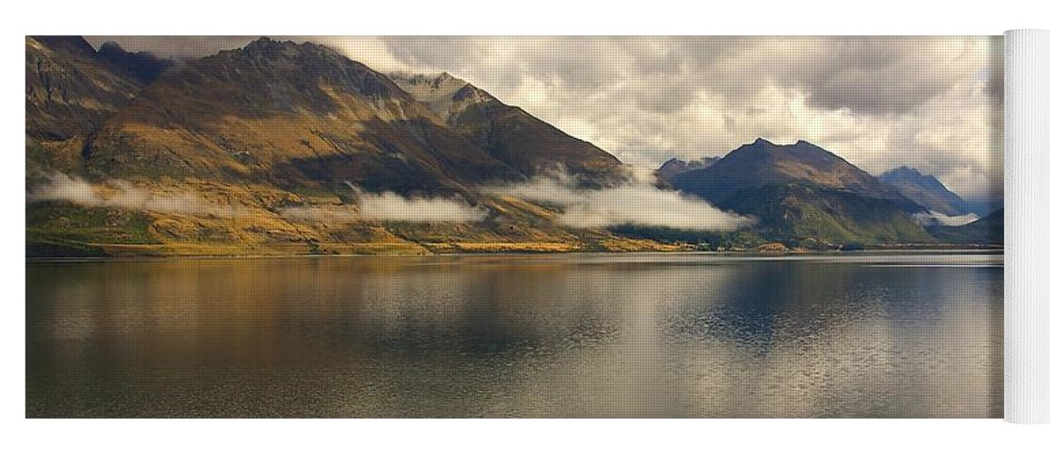 New Zealand Yoga Mat featuring the photograph Clouds Over Wakatipu #1 by Stuart Litoff