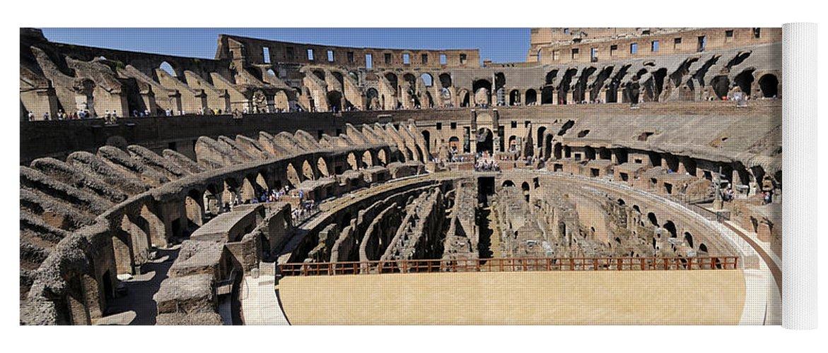 Coliseum rome yoga mat for sale by bernard jaubert built structure yoga mat featuring the photograph coliseum rome by bernard jaubert publicscrutiny Images