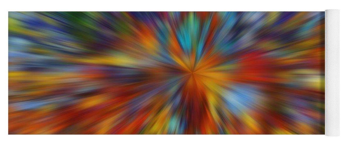 Color Warp Yoga Mat featuring the digital art Color Warp by Dan Sproul