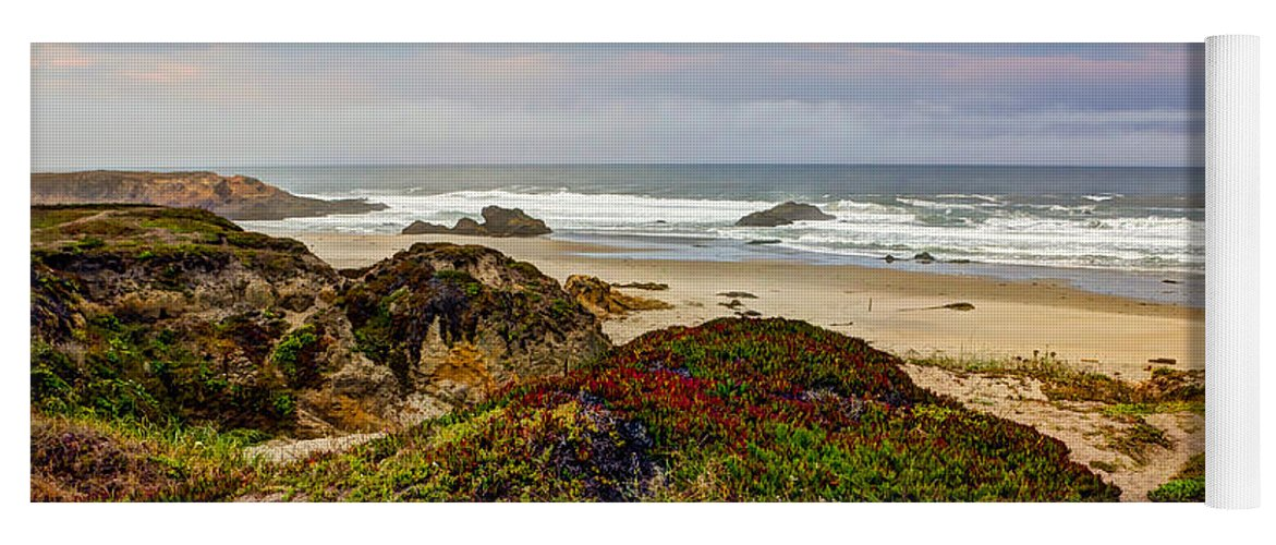 American Yoga Mat featuring the photograph Colors And Texures Of The California Coast by Heidi Smith