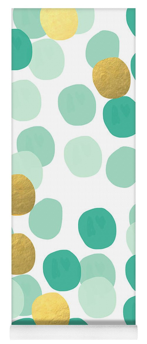 Confetti Yoga Mat featuring the painting Confetti 2- abstract art by Linda Woods