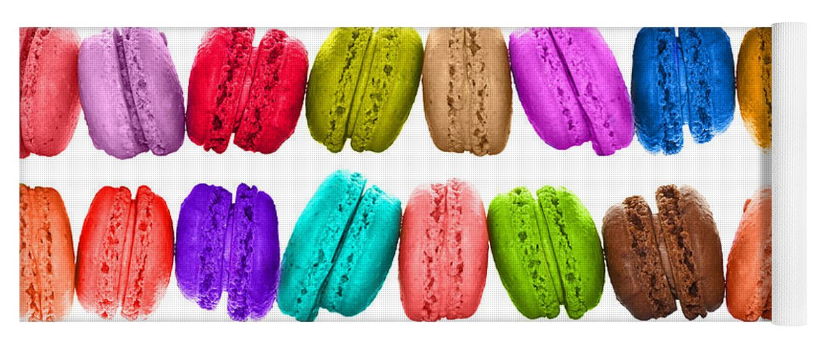 Macarons Yoga Mat featuring the photograph Crazy Macarons by Delphimages Photo Creations