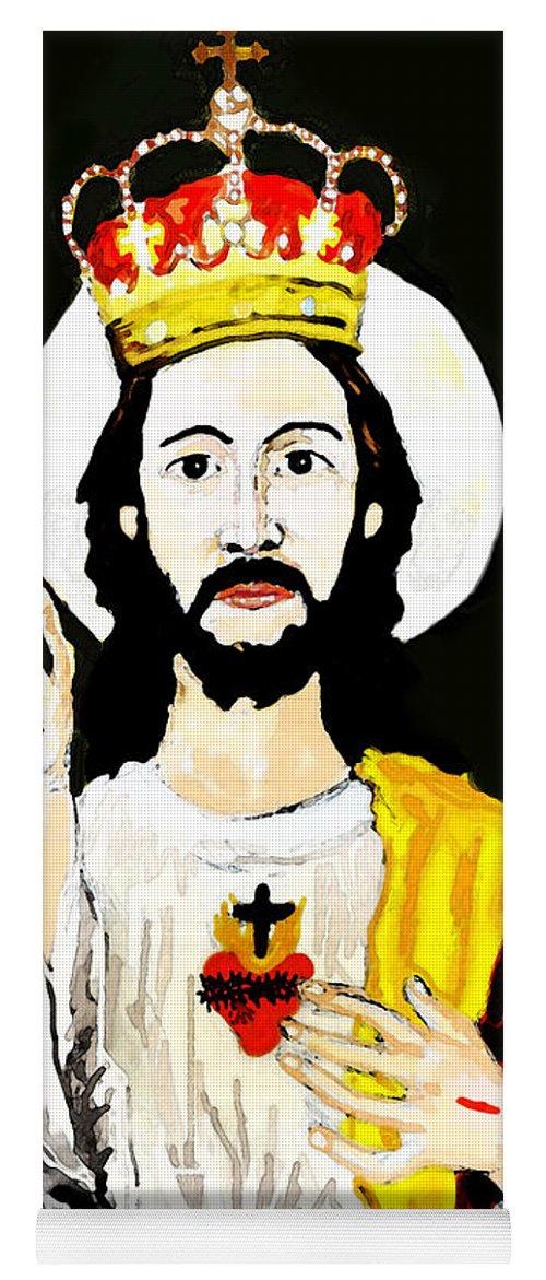 Jesus Yoga Mat featuring the digital art Cristo Rei by Paul Sutcliffe
