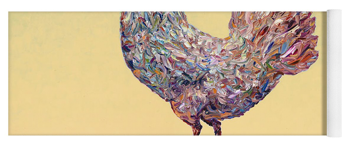 Chicken Yoga Mat featuring the painting Crossing Chicken by James W Johnson