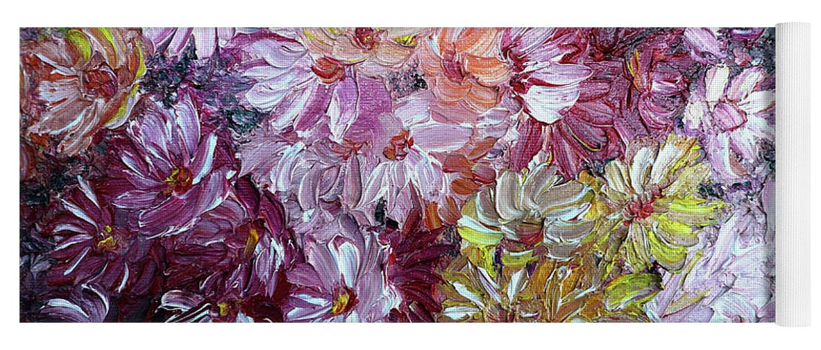 Flowers Yoga Mat featuring the painting Daisy Mix  Sold by Karin Dawn Kelshall- Best