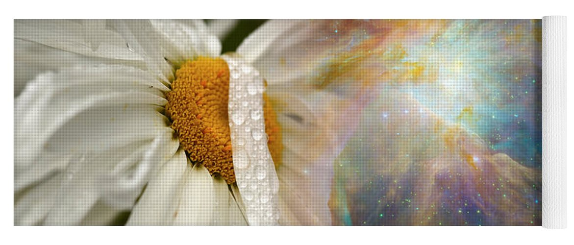 Photography Yoga Mat featuring the photograph Daisy With Hubble Cosmos by Panoramic Images