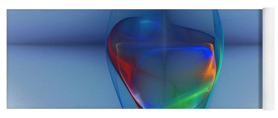 Fine Art Yoga Mat featuring the digital art Dark Matter and Gravity Waves Revealed by David Lane