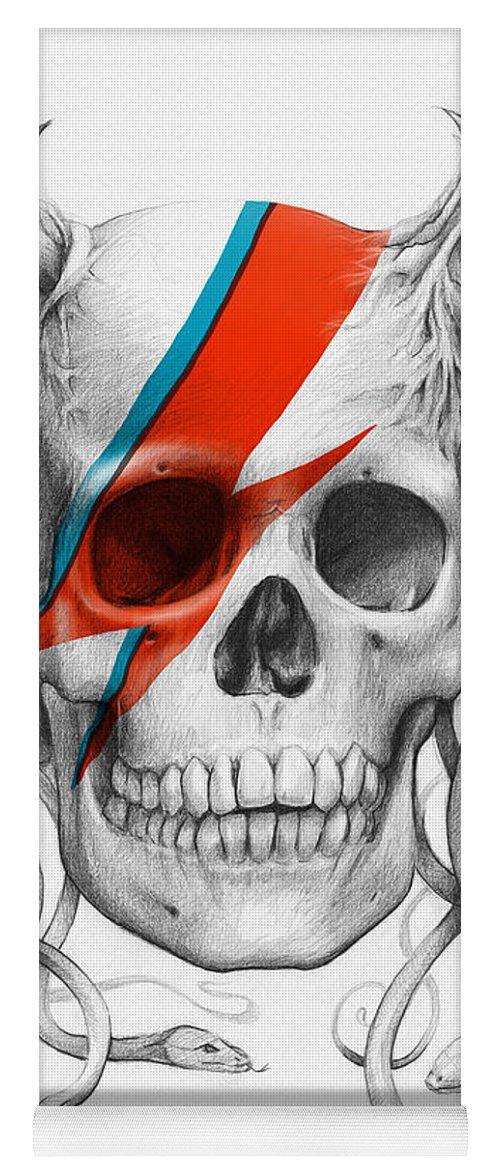 colours and striking famous brand best cheap David Bowie Aladdin Sane Medusa Skull Yoga Mat