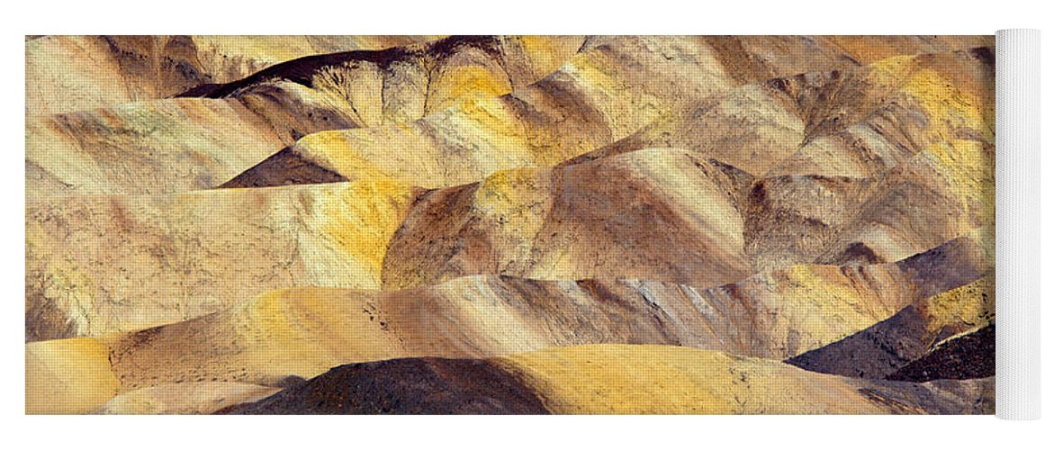 Zabriskie Point Yoga Mat featuring the photograph Desert Undulations by Mike Dawson