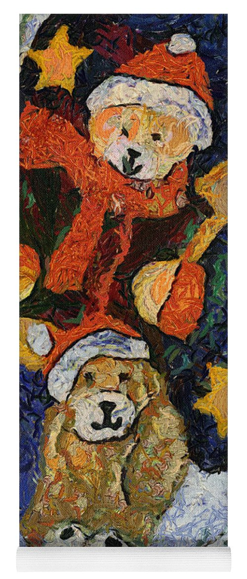 Stocking Yoga Mat featuring the photograph Doggie Xmas Stocking 03 Photo Art by Thomas Woolworth