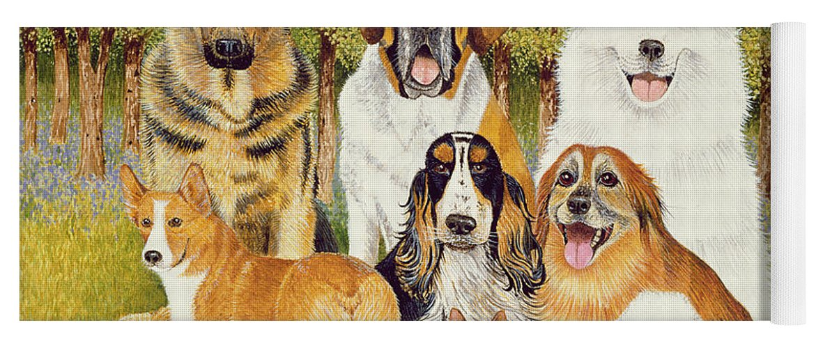 Dog Yoga Mat featuring the painting Dogs In May by Pat Scott