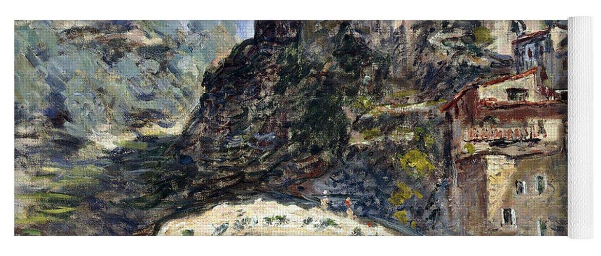 Monet Yoga Mat featuring the painting Dolceacqua by Claude Monet
