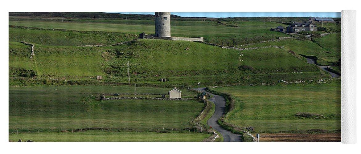 Ireland Yoga Mat featuring the photograph Doonagore Castle, County Clare, Ireland by Aidan Moran