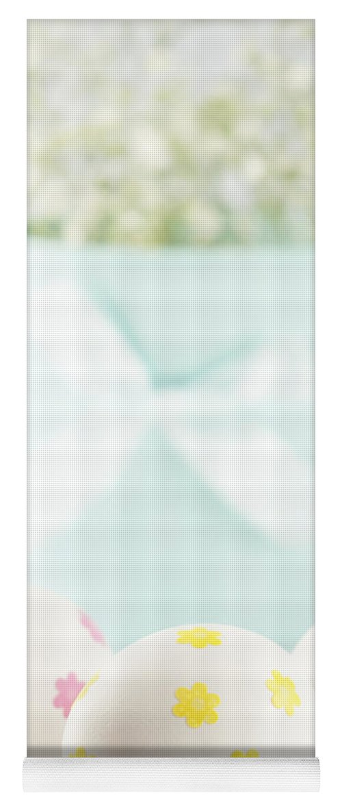 Baby's Breath Yoga Mat featuring the photograph Easter Eggs by Juli Scalzi