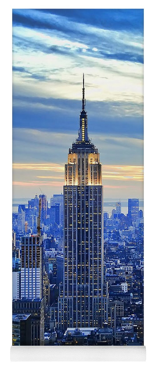 New York City Yoga Mat featuring the photograph Empire State Building New York City USA by Sabine Jacobs
