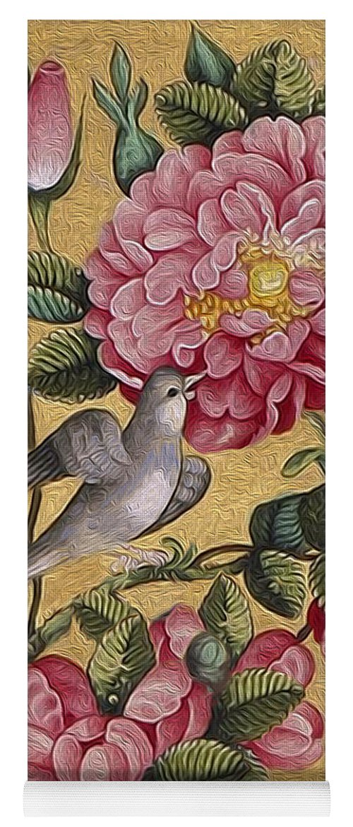 Floral Yoga Mat featuring the painting Exotic Camellias by Portraits By NC