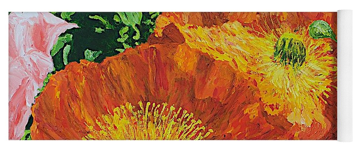 Landscape Yoga Mat featuring the painting Exuberance is Beauty by Allan P Friedlander
