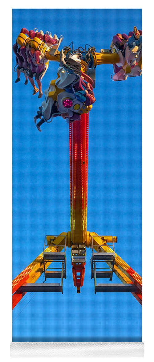 Photography Yoga Mat featuring the photograph Fairground Ride, Tramore, County by Panoramic Images